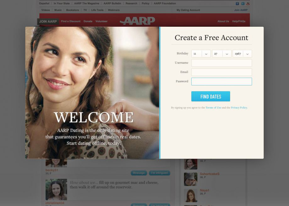 Aarp online dating reviews