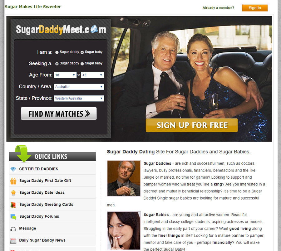 Free dating site for sugar dadys